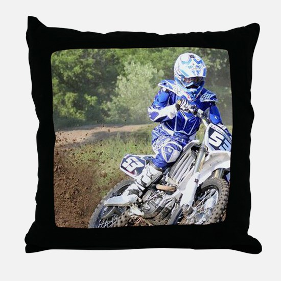 jordan motocross calender Throw Pillow