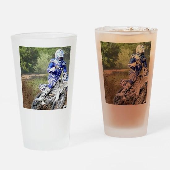 jordan motocross calender Drinking Glass