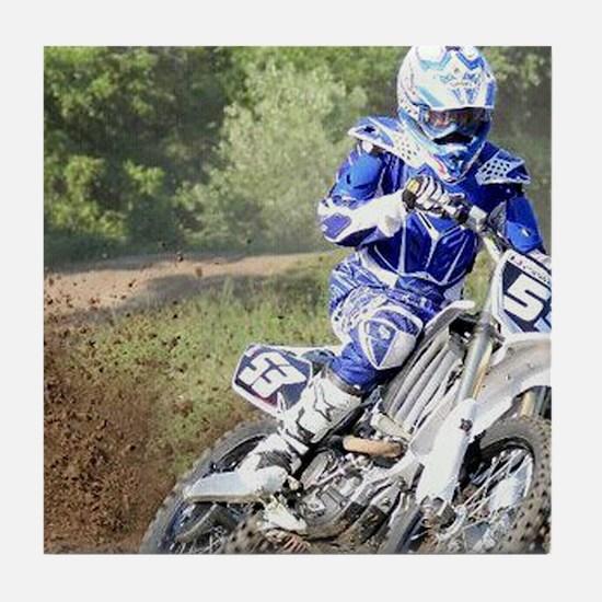 jordan motocross calender Tile Coaster