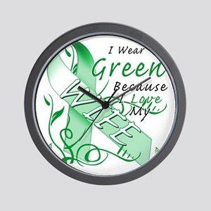 I Wear Green Because I Love My Wife Wall Clock