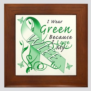I Wear Green Because I Love My Wife Framed Tile
