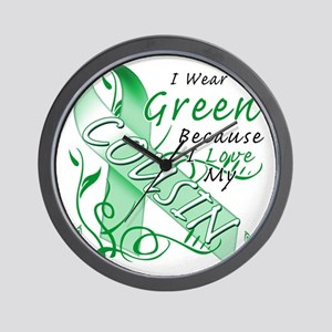 I Wear Green Because I Love My Cousin Wall Clock