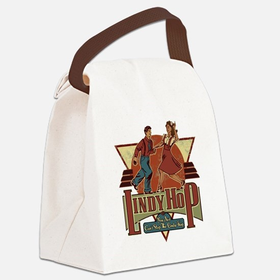 You Cant Stop The Lindy Hop Canvas Lunch Bag