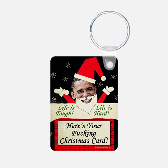 obamafchristmascard2011 Keychains