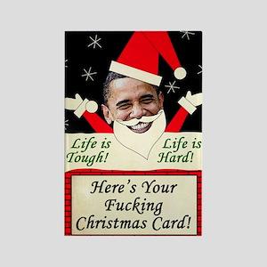 obamafchristmascard2011 Rectangle Magnet