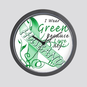 I Wear Green Because I Love My Husband Wall Clock