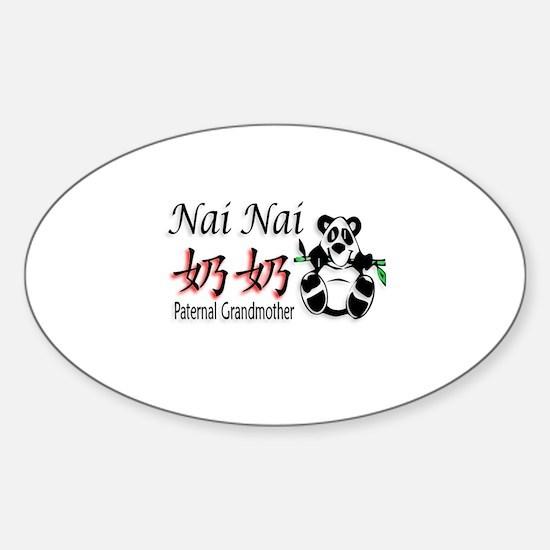 Nai Nai Panda 1 Oval Decal