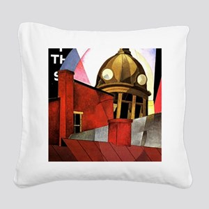 Welcome to our City, precisio Square Canvas Pillow