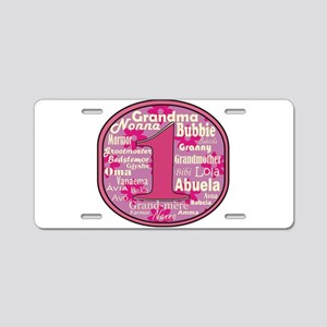 #1 Grandmother Aluminum License Plate