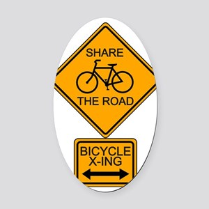 Share the Road Oval Car Magnet