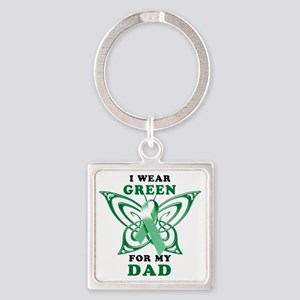 I Wear Green for my Dad Square Keychain
