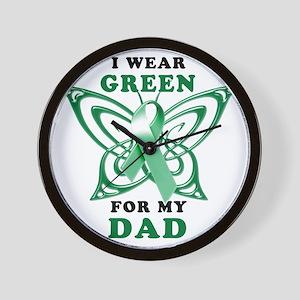 I Wear Green for my Dad Wall Clock