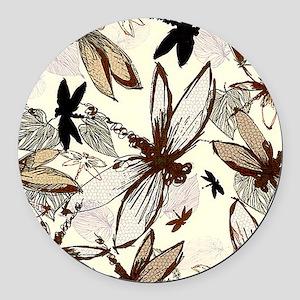dragonflies Round Car Magnet