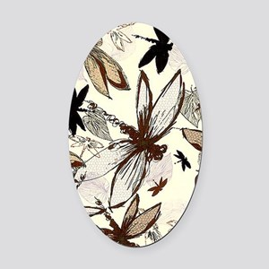 dragonflies Oval Car Magnet