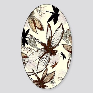 dragonflies Sticker (Oval)
