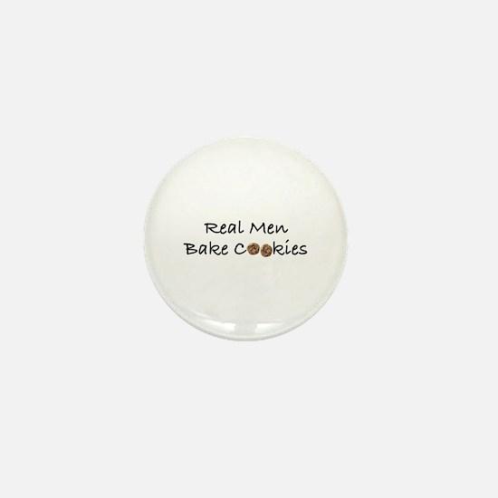 Real Men Bake Cookies Mini Button