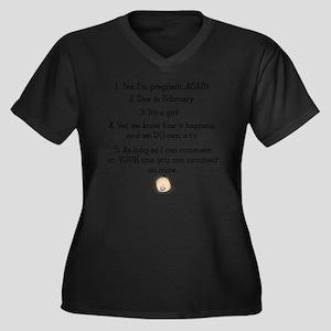 for reany Women's Plus Size Dark V-Neck T-Shirt