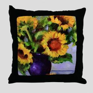 Sunchild Sunflowers Throw Pillow