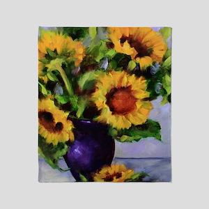 Sunchild Sunflowers Throw Blanket