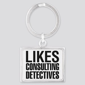 LIKES_CONSULTING_DETECTIVES_CP Landscape Keychain