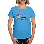 Why Yes! I do fish like a gir Women's Dark T-Shirt
