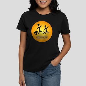 Naturist Xing Button Women's Dark T-Shirt