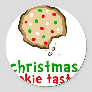 Xmas Cookie Taster Round Car Magnet