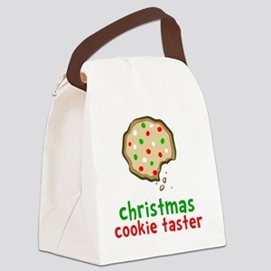 Xmas Cookie Taster Canvas Lunch Bag