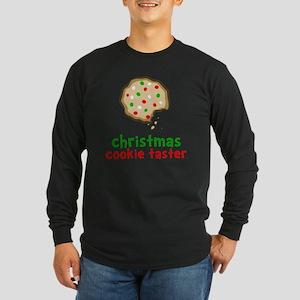 Xmas Cookie Taster Long Sleeve Dark T-Shirt