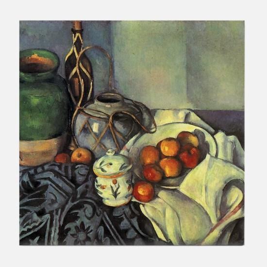 Still Life with Apples - Paul Cezanne - c1893 Tile