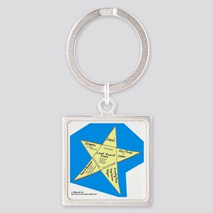 Shopping Star Square Keychain