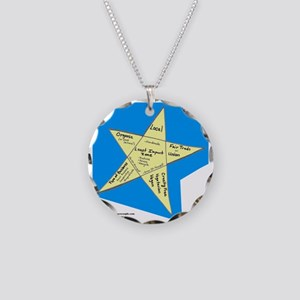 Shopping Star Necklace Circle Charm