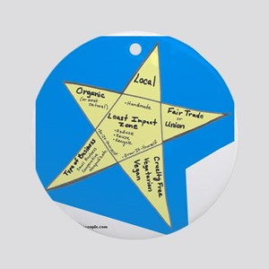 Shopping Star Round Ornament