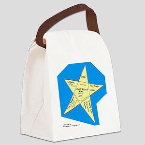 Shopping Star Canvas Lunch Bag