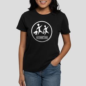 Naturist Xing White Women's Dark T-Shirt