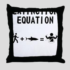 Extinction Equation Throw Pillow
