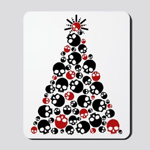 Gothic Skull Holiday Tree Mousepad