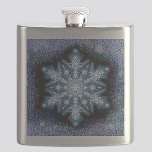 Snowflake Calendar - February - square Flask