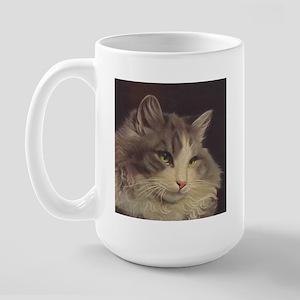 Green Eyed Cat Mug (large)