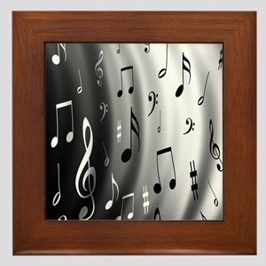 music notes Framed Tile