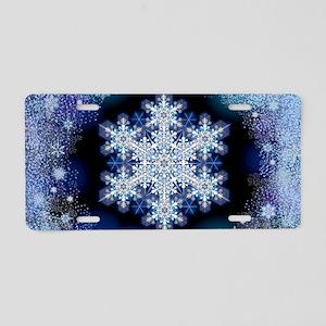 Snowflake Calendar - March Aluminum License Plate
