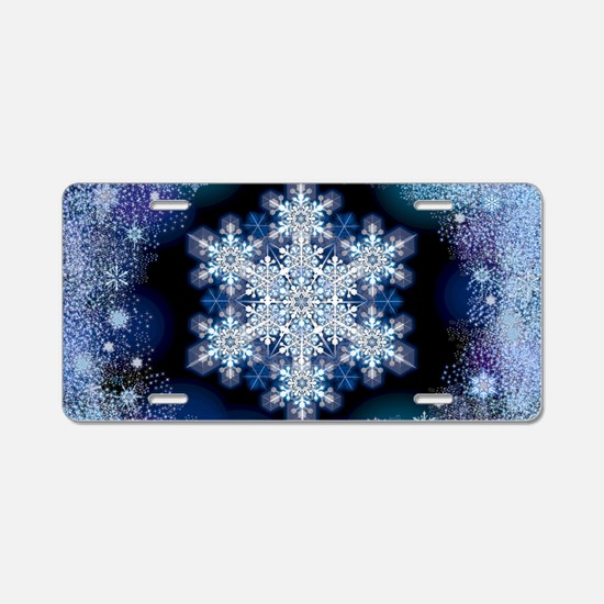 Snowflake Calendar - March Aluminum License Plate