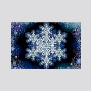 Snowflake Calendar - March Rectangle Magnet
