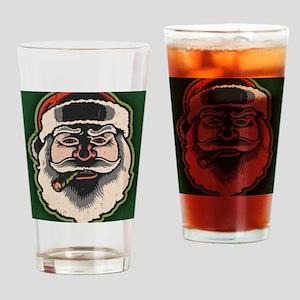 smokin-santa-LG Drinking Glass