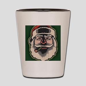 smokin-santa-LG Shot Glass