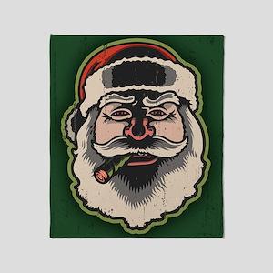 smokin-santa-LG Throw Blanket