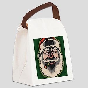 smokin-santa-LG Canvas Lunch Bag