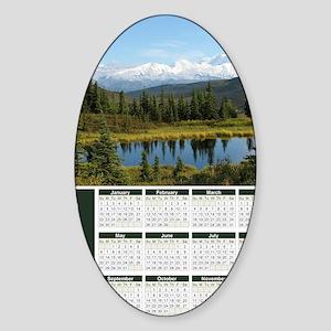 Denali 2012 Year At A Glance Sticker (Oval)