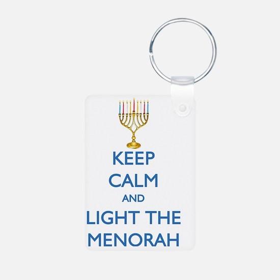 keep_calm_LIGHT_THE_MENORA Keychains