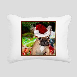 christmas French bulldog 4a Rectangular Canvas Pil